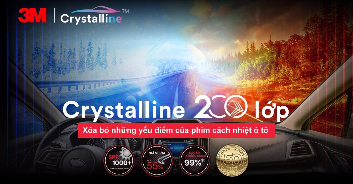 Xóa bỏ những yếu điểm của phim cách nhiệt ô tô với 3M Crystalline