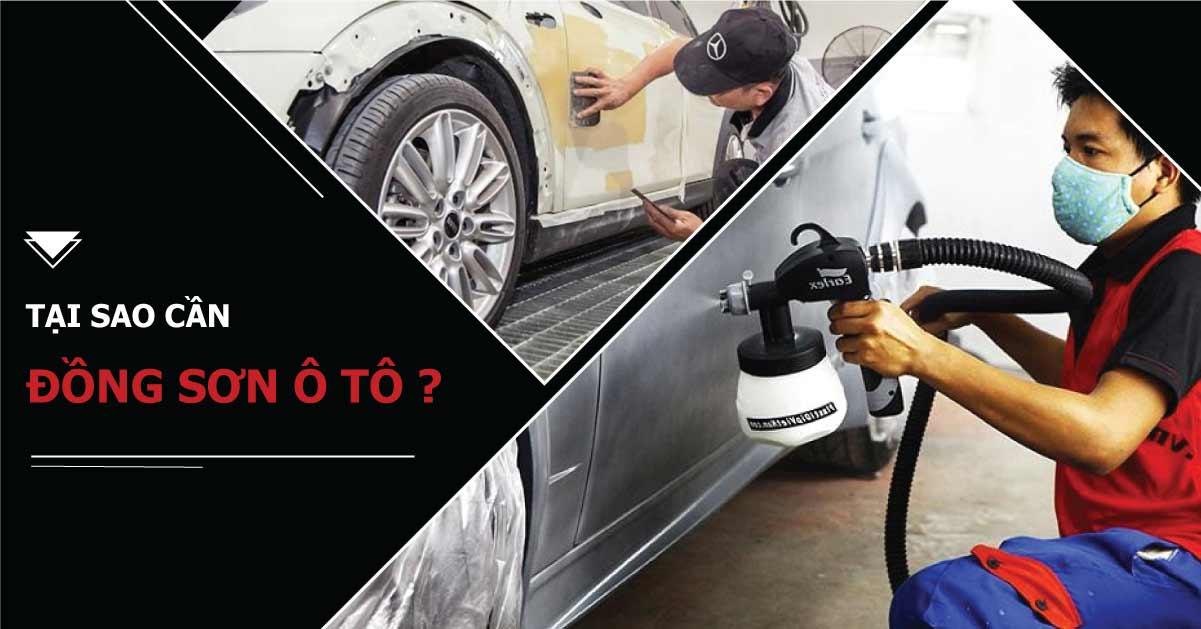 Tại sao trước khi sơn lại xe cần đồng sơn ô tô ?