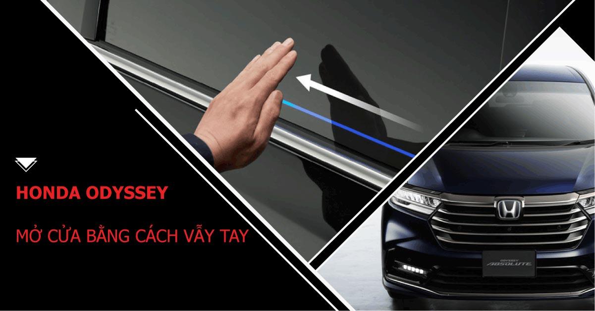 Honda Odyssey mở cửa bằng cách vẫy tay – công nghệ đi trước
