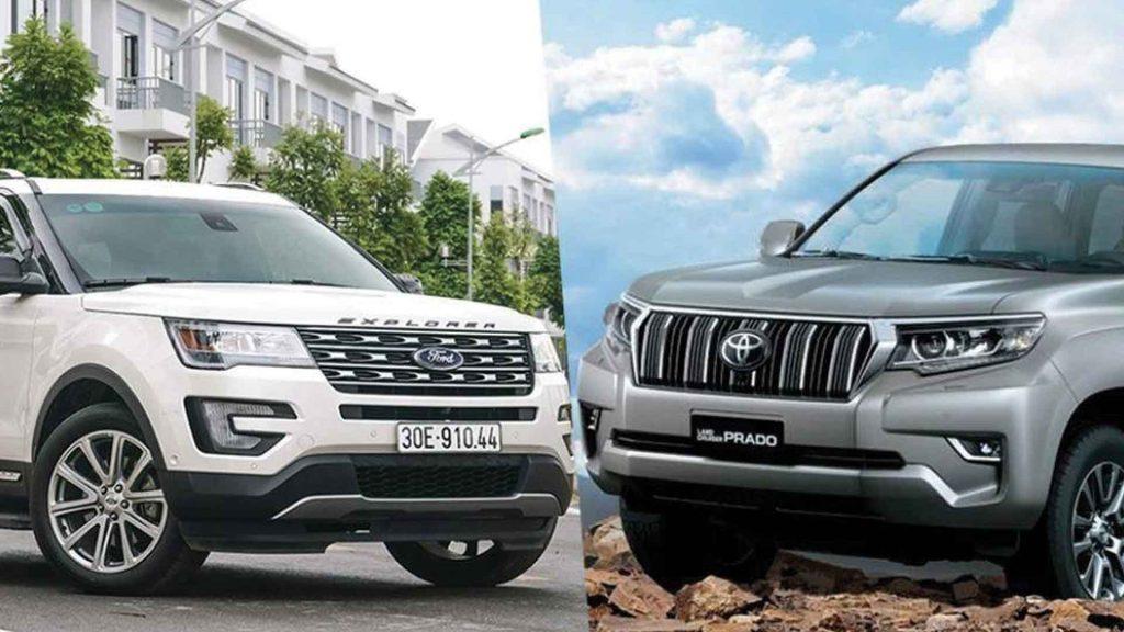 So-sanh-Ford-Explorer-và-Toyota-Land-Cruiser-Prado